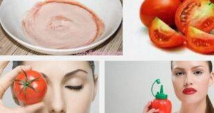 ماسك الطماطم والحليب والحصول علي بشرة صافية